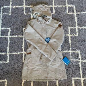 NWT Columbia South Canyon Long Hooded Jacket Sz S